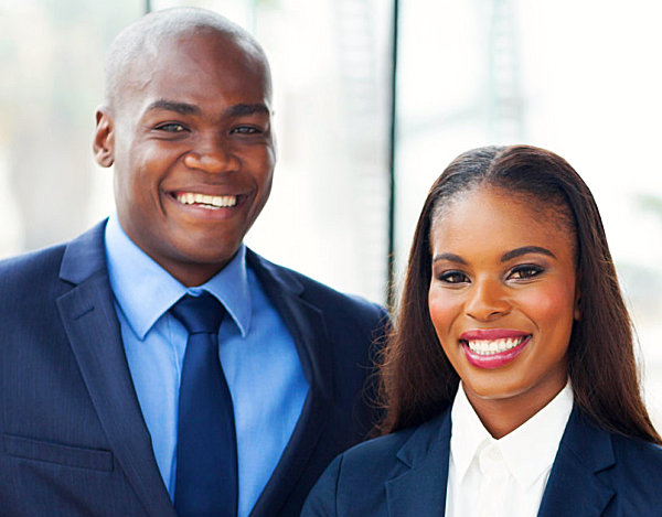 young african businesspeople