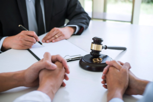 Agreement prepared by lawyer signing decree of divorce dissolut